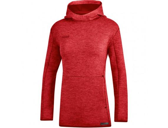 Ženski pulover s kapuco Premium Basics - rdeč 01