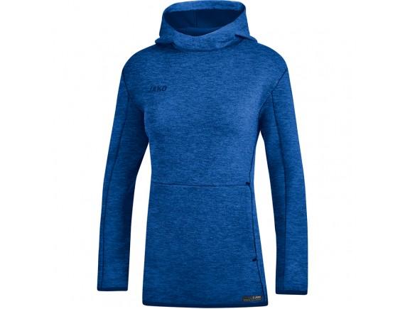 Ženski pulover s kapuco Premium Basics - moder 04
