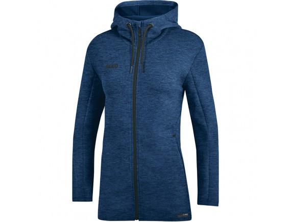 Ženska jakna s kapuco Premium Basics - modra 49