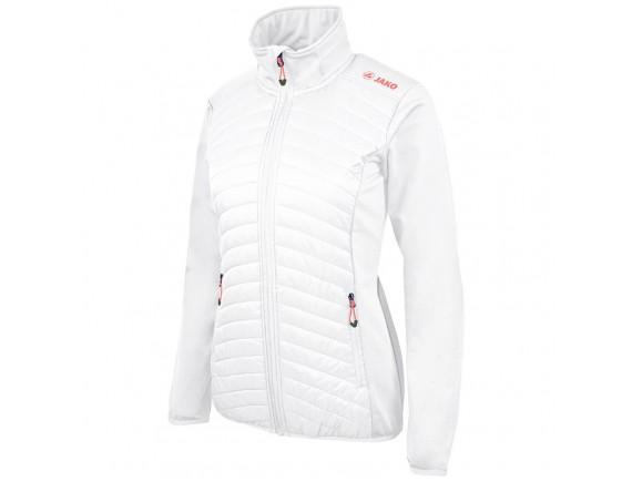 Ženska hibridna stretch jakna-bela